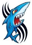 Vintage Shark Tattoo