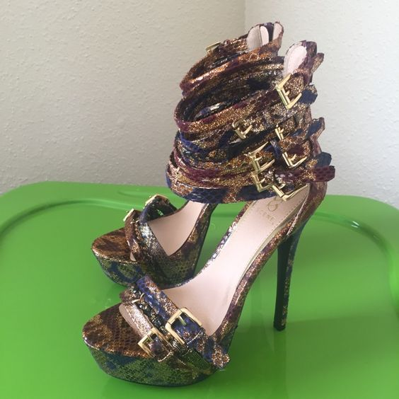 For Sale:  Snake Pattern Heels  for $30