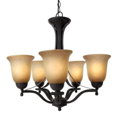 I love our chandelier :) Rustic Iron 5-Light Chandelier ...