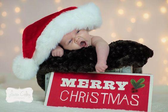 Christmas Newborn pic