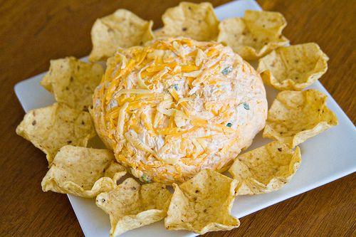 Buffalo Chicken Cheese Ball - sounds a lot better than the greasy dip version!