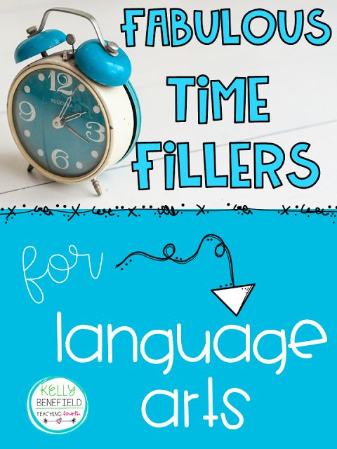 Teaching Fourth: 14 Fabulous Time Fillers for Language Arts