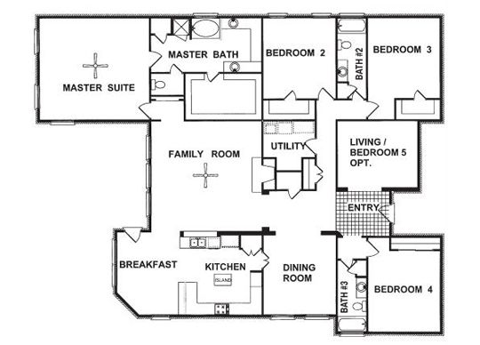 Awesome One Story Beach House Floor Plans   Google Search | Beach House | Pinterest  | Beach House Floor Plans, House And Bedrooms