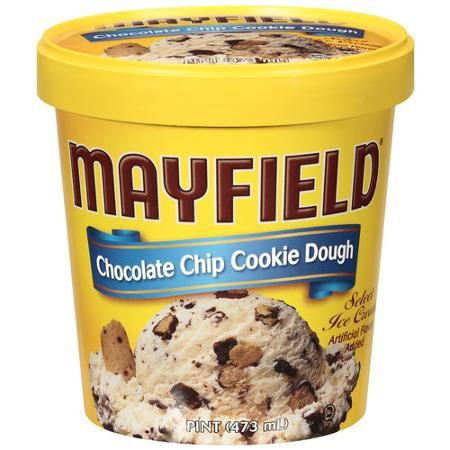 Mayfield Chocolate Chip Cookie Dough Ice Cream, 1 pt