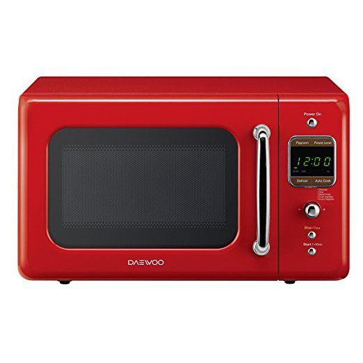 Daewoo Kor 7lrer Retro Countertop Microwave Oven 0 7 Cu Ft 700w