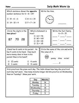 math worksheet : math for second grade third trimester  daily math second grade  : Daily Math Worksheets