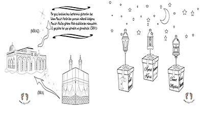 Mirac Kandili Boyama Sayfasi Kandil Boyama 3d Kartlari
