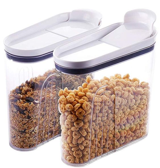 Elegear Cereal Container Set Airtight Lids Dry Food Storage Containers Storage Containers For Cereal Bpa Dry Food Storage Cereal Containers Coffee Snacks