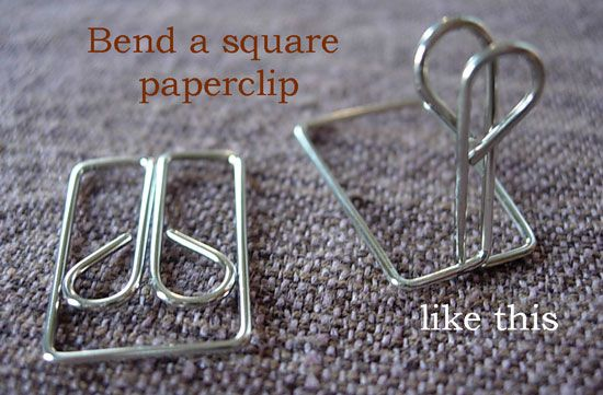 How To Make A Simple Place Card Holder Place Cards Paper Clip