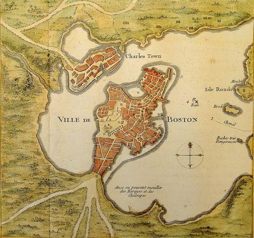 map of boston 1776 vs today Boston Circa 1776 City Map Art Boston Map Boston History map of boston 1776 vs today