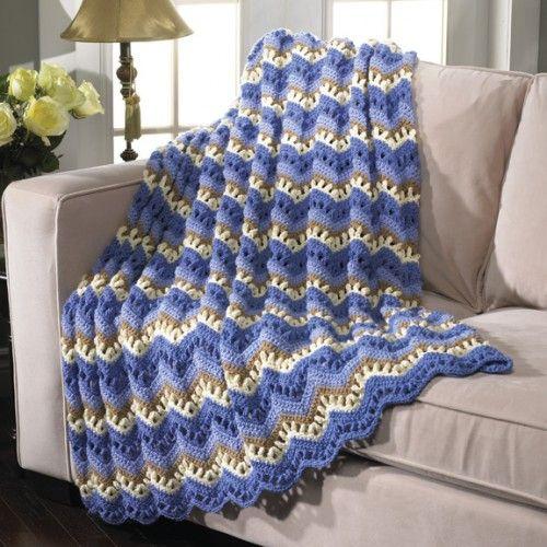Free Ocean Breeze Afghan Crochet Pattern | Crochet Throws ...