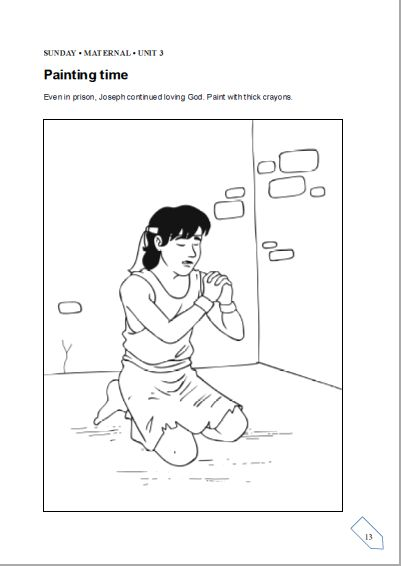 joseph and potifer coloring pages - photo#18