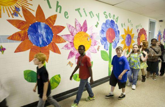 Eric carle paper displays fabulous elementary art ideas for Eric carle mural