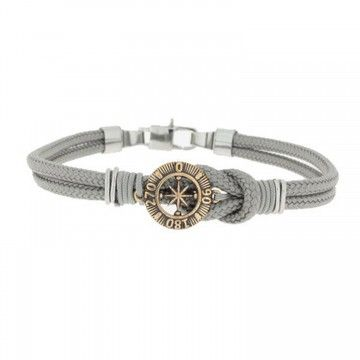 Clochard Fashion Unisex-Armband 21 cm Baumwolle Kompass BA7156