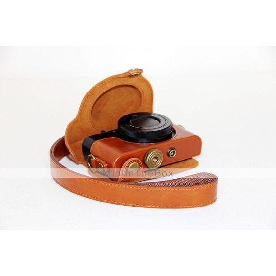 EUR € 36.99 - dengpin cámara de cuero estuche protector cubierta retro bolsa de la PU con la correa de hombro para rx100 m2 sony dcs-rx100ii iii m3, ¡Envío Gratis para Todos los Gadgets!