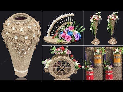 5 Jute Craft Ideas Home Decorating Ideas Handmade 4 Youtube Jute Crafts Crafts Burlap Crafts