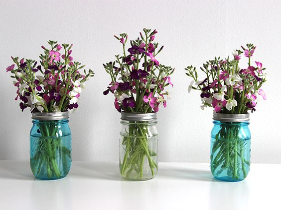 Secret Tip on Arranging Flowers (Perfectly!) in Mason Jars >> http://blog.diynetwork.com/maderemade/2014/05/09/quick-and-easy-ideas-for-a-mothers-day-brunch/?soc=pinterest