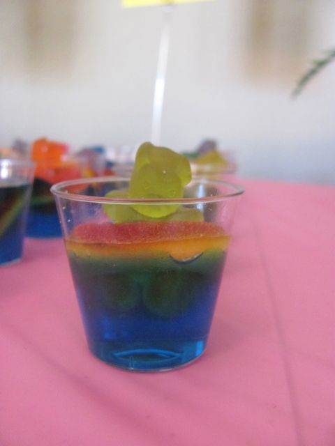 Poolside luau birthday party ideas jello shots jelly for Swimmingpool gummi