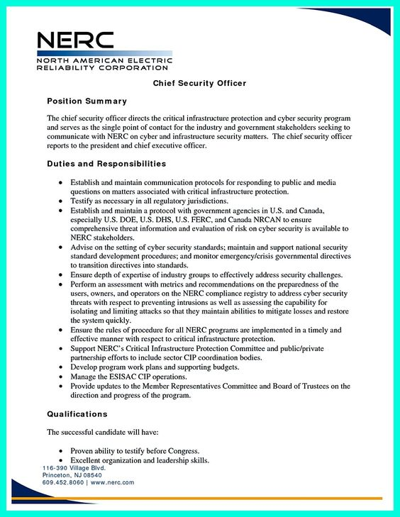 resume objective for security 28 images security