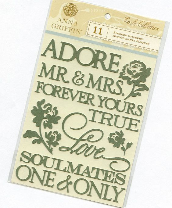 Stickers for Wedding Paper Crafts from Anna Griffin. $3.50, via Etsy.