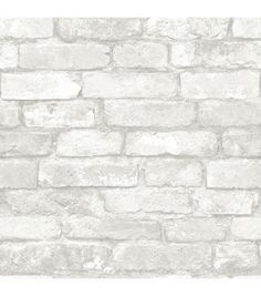 Fashion your own brick wall in a matter of minutes with this chic peel and stick wallpaper. Treated to a beautiful rustic finish, this grey and white faux brick design brings a dimensional look to wal