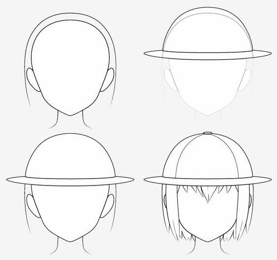 Từng bước vẽ nón thám hiểm anime