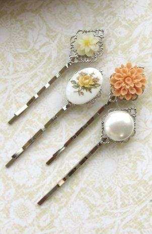 vintage inspired :: floral pins: