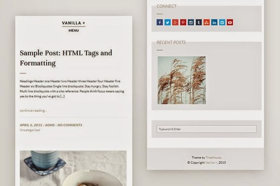 Vanilla  Responsive WordPress Theme