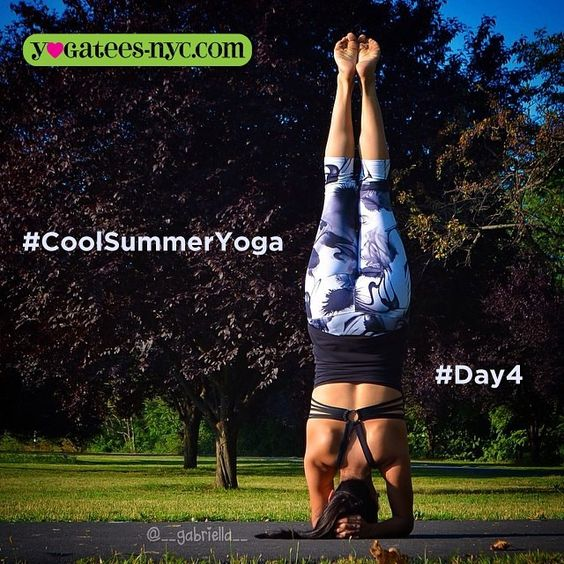 #CoolSummerChallenge  Final day • Day 4 See IG for details! :) Yoga Every Day!  #Sirsasana Supported Headstand