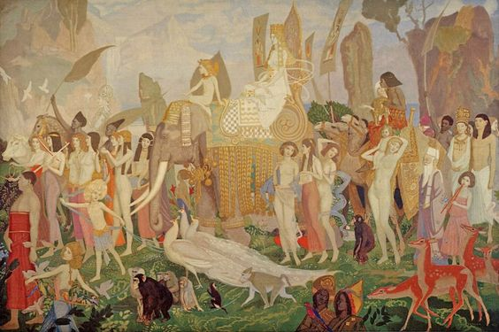 John Duncan (Scottish 1866-1945), Queen Of Sheba