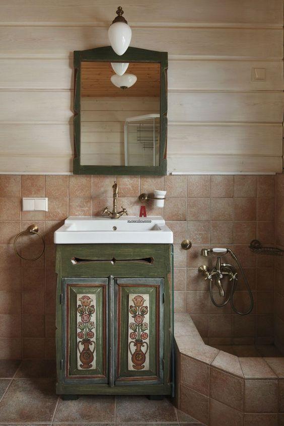 оформление шкафов в ванной