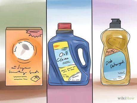 Bicarbonato de sódio.OxiClean (bicarbonato de sódio e peróxido de hidrogênio).Vodca.Detergente de louça.Vinagre branco.Aspirina esmagada.