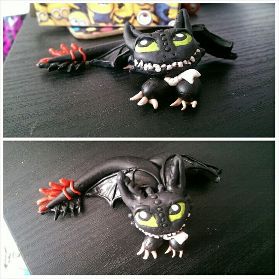 My Friend Made Me Toothless From Clay (@libbyduce)