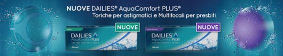 Nuove lenti a contatto Focus Dailies Aqua Comfort anche per astigmatici e presbiti!!!