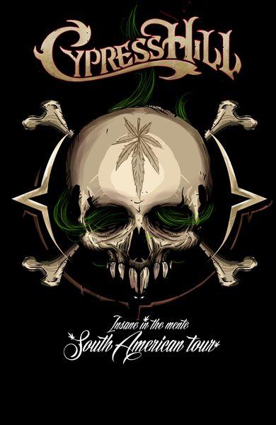 Fue un placer tener la oportunidad de poder desarrollar el cartel oficial de insane in the mente south american tour basándome especialmente en el álbum CYPRESS HILL GRANDES EXITOS EN ESPAÑOL  trate de hacer una composición dinámica basándome en la armo…