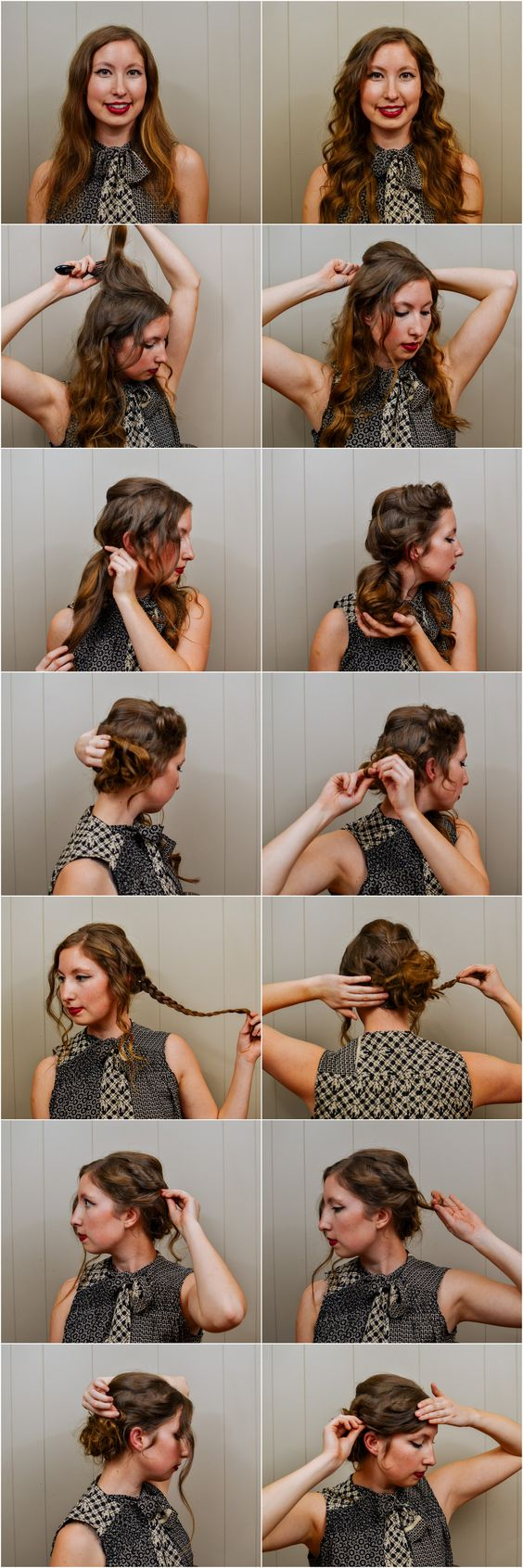 I FINALLY have another hair tutorial for you.  Let it be known that this  was done in our kitchen, with me trying to figure out my sister's studio  lights, and using self-timer for every photo because my remote has gone  missing... Yep.  It was quite an ordeal!