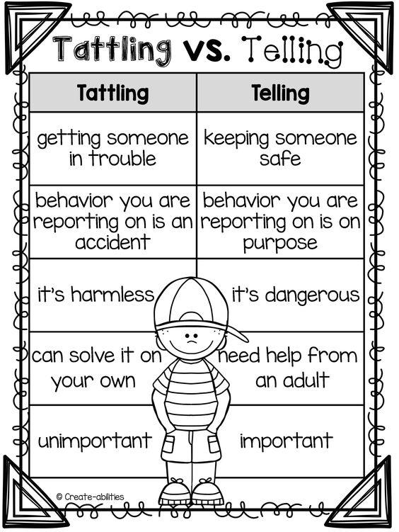 Bullying printables for kindergarten