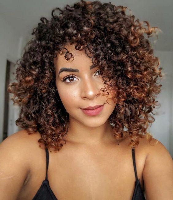 Corte de cabelo degradê feminino 2020 cacheado