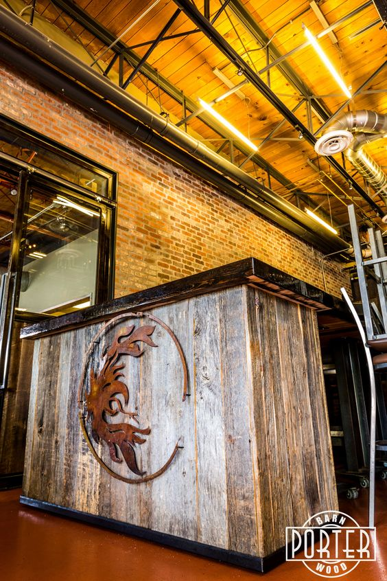 Multiple projects featuring our reclaimed materials at San Tan Brewery.