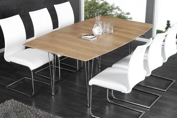Moderner Esstisch CONTINENTAL Eiche Konferenztisch 270cm Echtholz verlängerbar