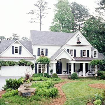 Porches colonial and porticos on pinterest for Colonial house addition