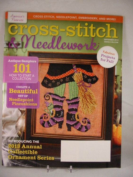 Cross Stitch & Needlework Magazine September 2013 Witchy Witch Spooktacular New