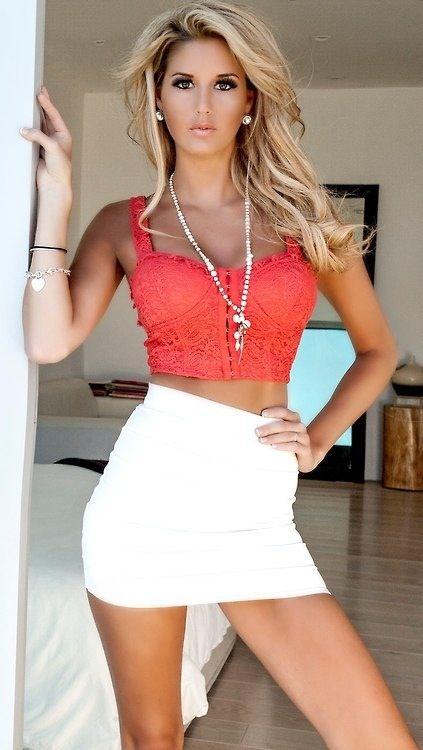 Sexy, Crop tops and Blondes on Pinterest