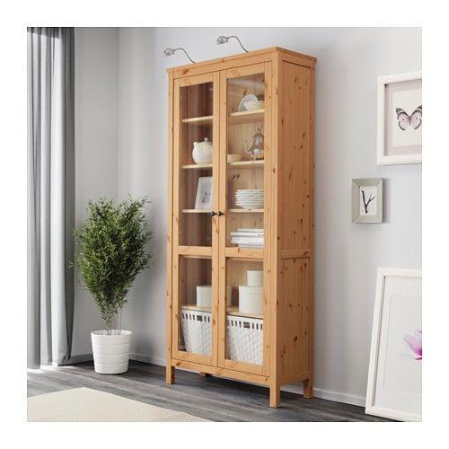 Glass Door Cabinet White Stain 35 3 8x77 1 2 Glass Cabinet Doors Hemnes Ikea