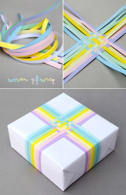 Interesting Gift Wrapping Idea! Perhaps with the gold, red, green, silver shiny Christmas ribbons?