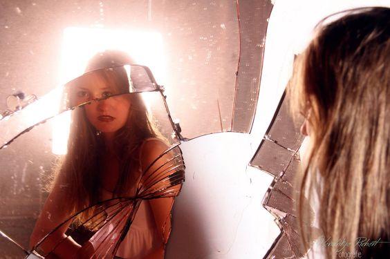 Portrait of a girl in a broken mirror.  by Hendrikje Richert Fotografie   https://www.facebook.com/HendrikjeRichertFotografie/photos/pb.432541680279497.-2207520000.1454156635./463741863826145/?type=3&theater