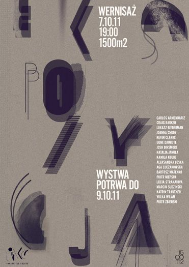 ekspozycja typo poster by aleksandra niepsuj