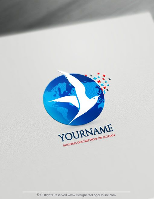 Create A Flying Bird Logo For Free Seagulls Logo Templates Logo Templates Free Logo Bird Logos