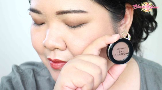 Contoh Warna Colour Box Mono Eyeshadow - Warm Brown