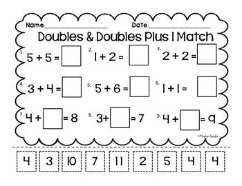 All Worksheets » Doubles Plus One Worksheets - Printable ...